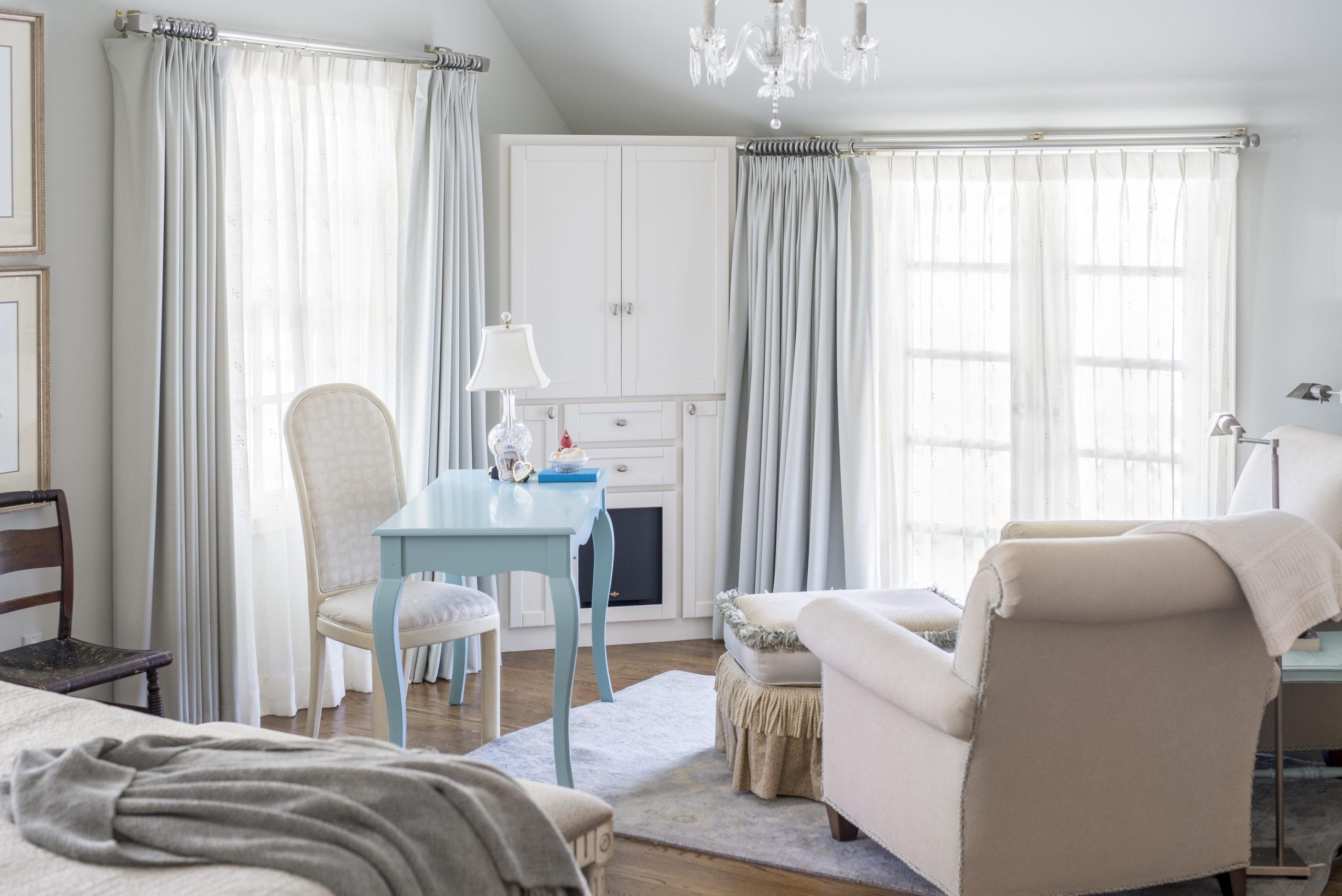 Master bedroom cypress desk
