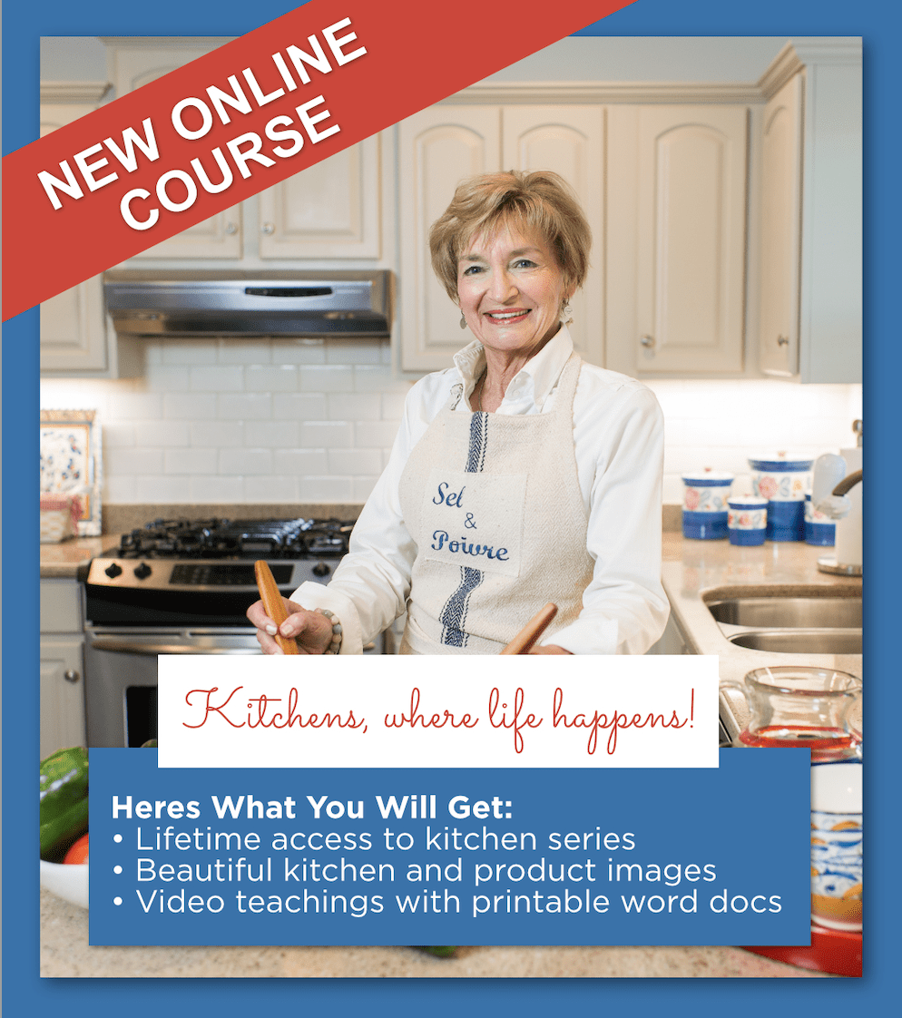MY NEW ONLINE COURSE: KITCHENS WHERE LIFE HAPPENS!